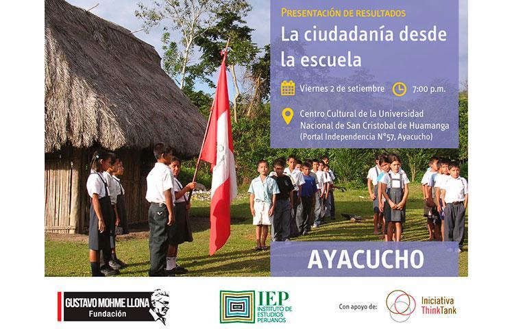 Presentan en Ayacucho resultados de estudio sobre Ciudadanía y Democracia en la Escuela Peruana