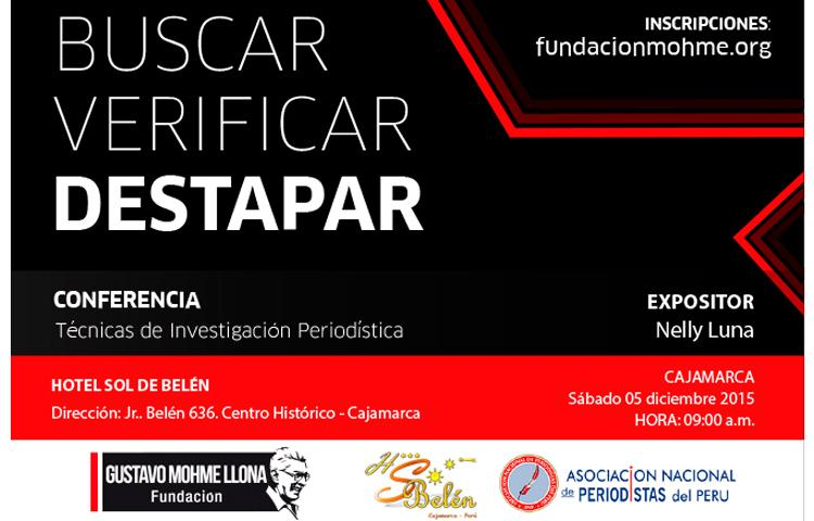Taller de periodismo de investigación 'Buscar, verificar, destapar' de la Fundación Mohme llega a Cajamarca