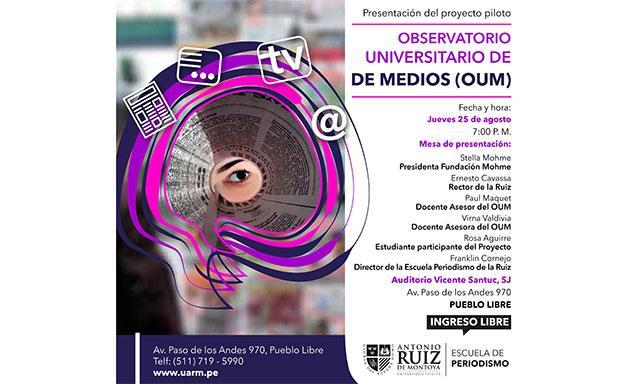 Fundación Mohme y Ruiz de Montoya, en apuesta común por la formación de los estudiantes de periodismo