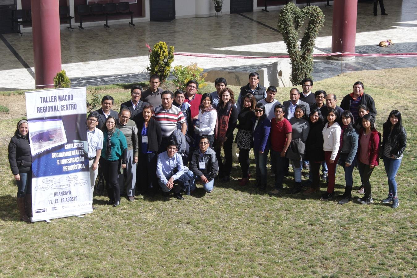 Segundo Taller Macro Regional de Periodismo de Investigación concluyó en Huancayo