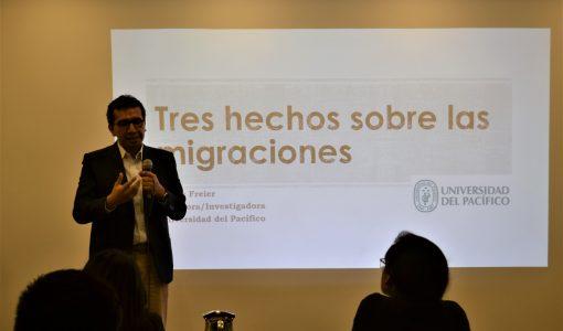 Periodistas participan en taller sobre movilidad humana en Lima